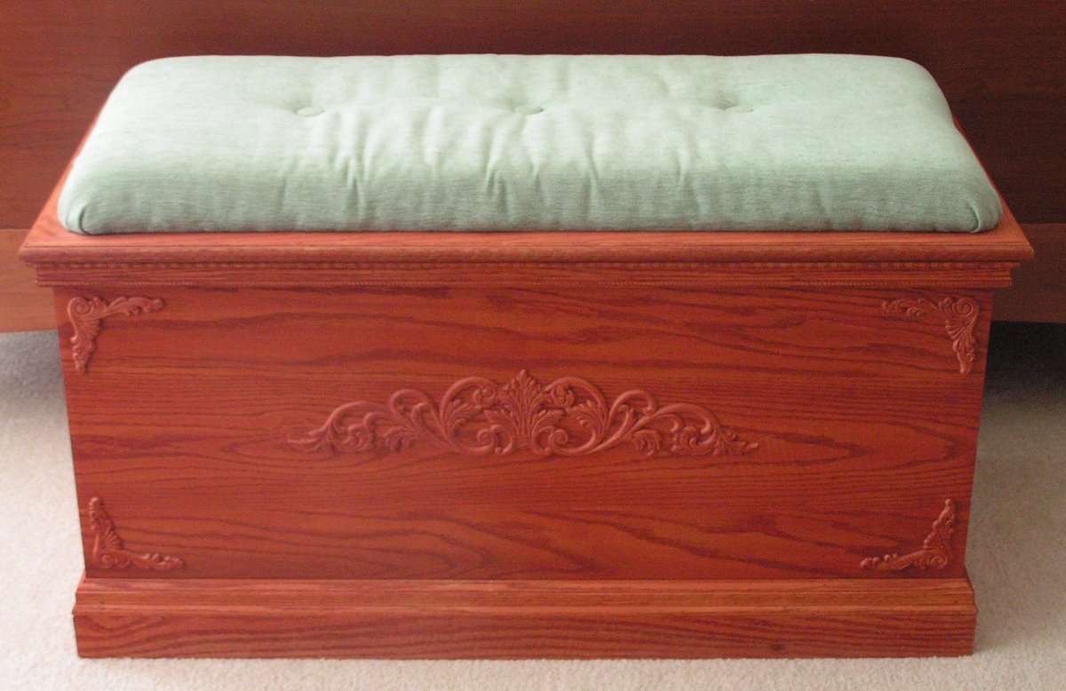 dennis creates custom hope chests built to your this beautiful chest is cedar lined and detailed with raised accents and topped with a soft - Hope Chests